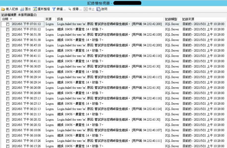 SSMS 管理工具可以顯示 Log
