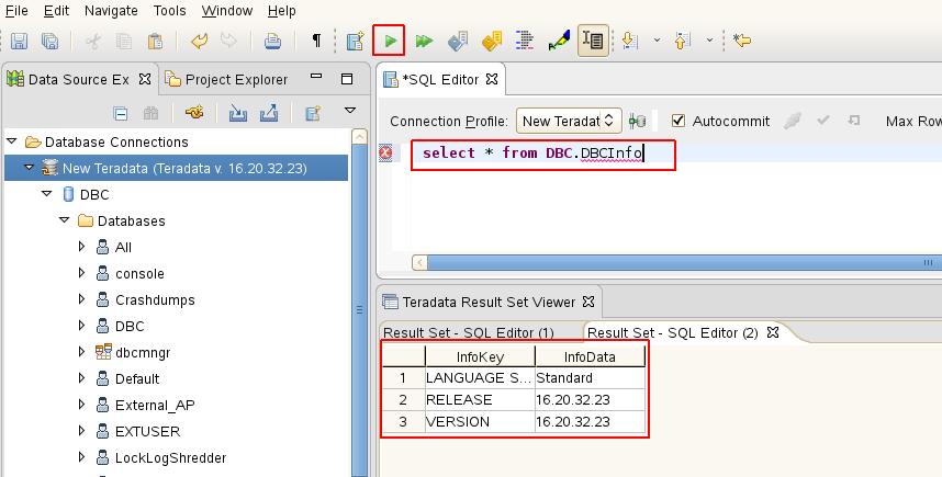 測試 SQL 指令
