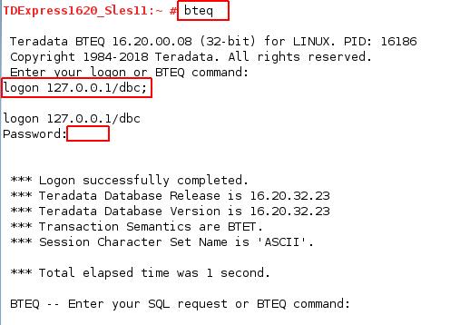 使用 BTEQ執行 SQL 指令